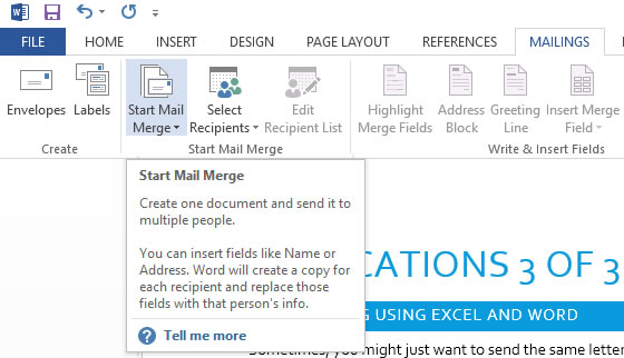 Using Office Applications - Mail Merge - Part 3 of 3